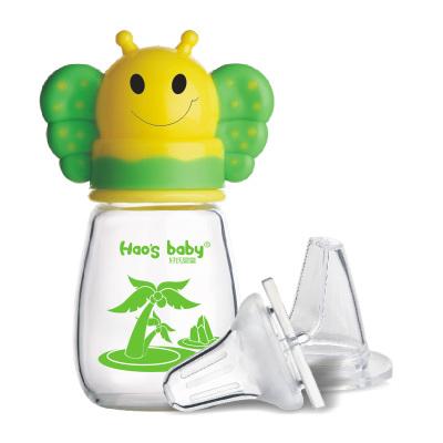 金升 120ml标准口径晶钻玻璃小蜜蜂护理奶瓶 AP8109