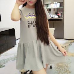 卓依佳 2017新款春夏装装韩版全家装母女连衣裙长袖舒适时尚亲子装 QZ001