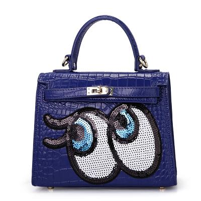 米宝莱 时尚新款大眼睛真皮手提包MBL-Y6224