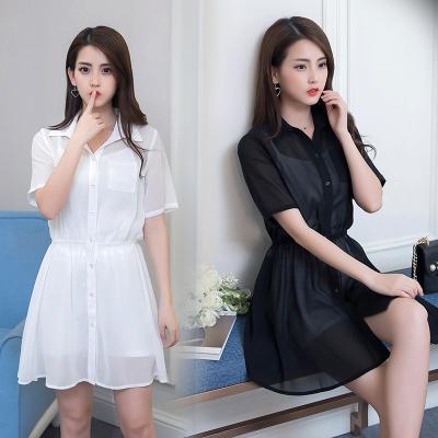 蕾芭格 2017年新款纯色修身薄款黑色 白色 三件套裙 1715