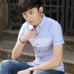 艾菲尔 2017夏季新款韩版修身t恤衫学生青少年男装男装休闲衬衫 008