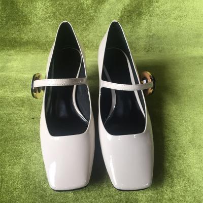 荷乐诗 新款时尚韩版亮面单鞋跟鞋 1633-2
