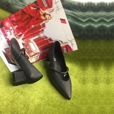 荷乐诗 新款时尚箭头单鞋跟鞋 169-95