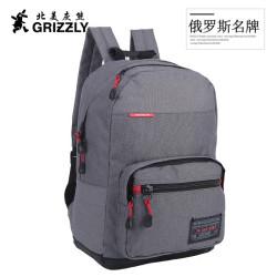 GRIZZLY正品双肩包旅行包男背包大容量商务休闲包高中学生书包