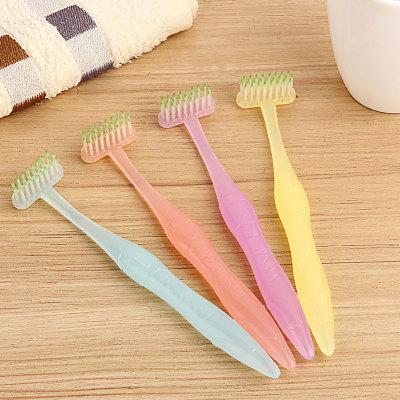 T型竖刷式牙刷(磨尖丝成人装)CJ003