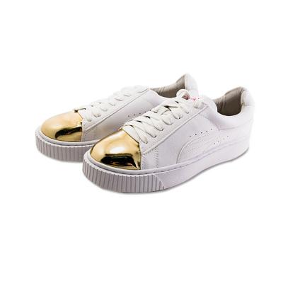 JustMe 厚底系带小白鞋板鞋 JSD17035