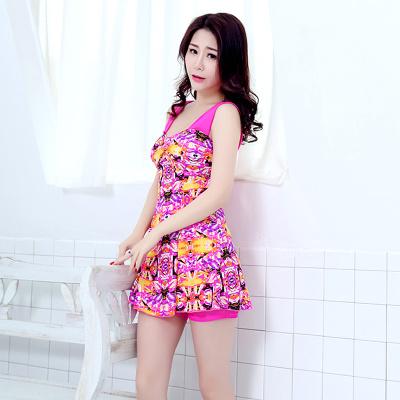 炫浪新款印花连体裙式吊带 泳衣 LT005