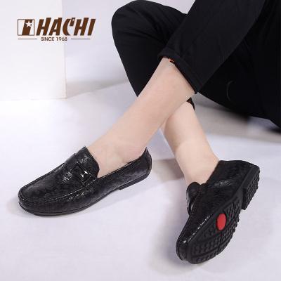 哈驰真皮豆豆鞋春季新款超软舒适鞋英伦皮鞋懒人鞋日常休闲皮鞋子MG173214