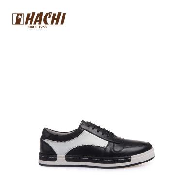 哈驰男士休闲鞋时尚拼色系带男鞋真皮板鞋 英伦时尚休闲板鞋牛皮MJ173152