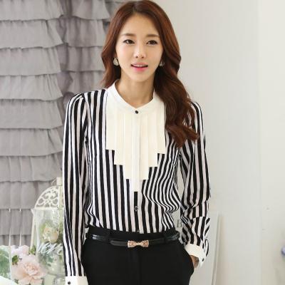 古月服饰 透气高档优雅时尚条纹衬衫532