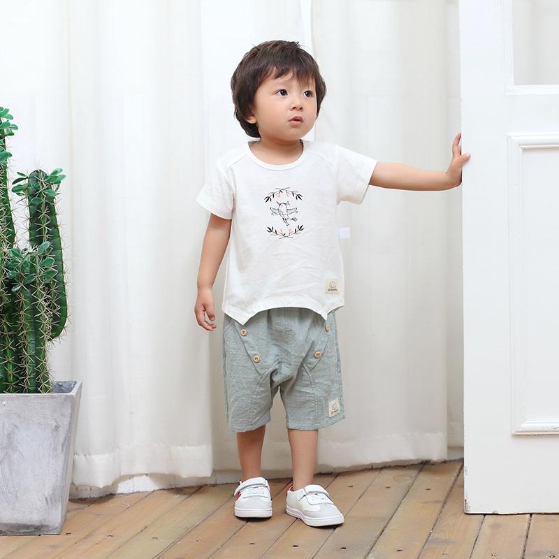 亲贝娃 2017夏季新款童装男童短袖T...