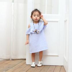 亲贝娃 2017童装女童连衣裙韩版夏装纯棉新款 QXG7-2028