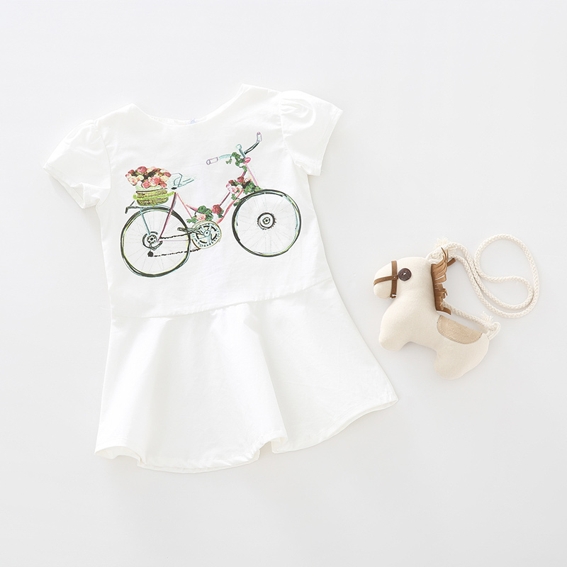 小孩说 2017夏季新款时尚女童单车连...