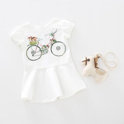 小孩说 2017夏季新款时尚女童单车连衣裙 BQ6-805
