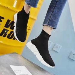 2017新款弹力袜子鞋休闲高帮情侣运动鞋厚底女跑步潮鞋