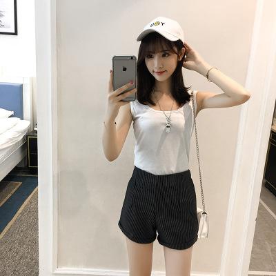 J.S.YU  2017新款背心吊带衫百搭修身显瘦纯色双U打底背心女 JS7A152