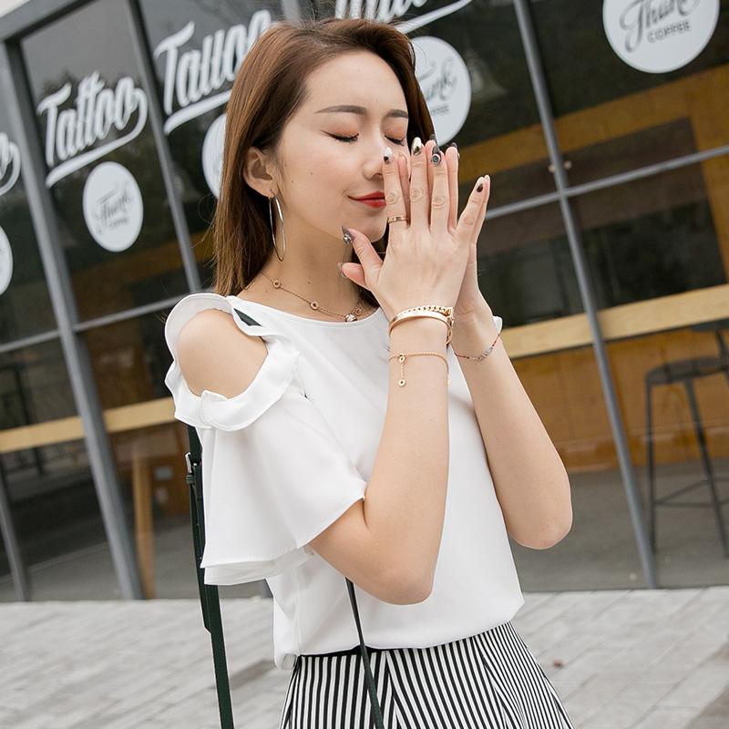 金丽都 2017夏季新款简约上衣纯色宽松短袖韩版女装t恤衫96314