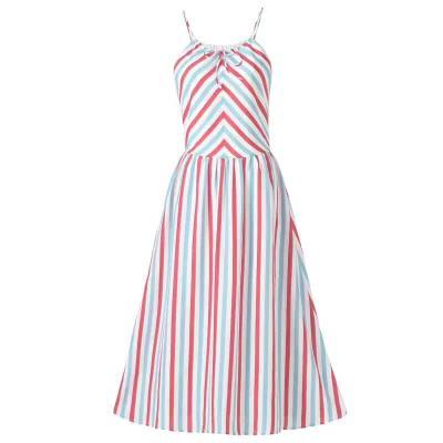 吻合 2017春夏新款时尚吊带印花气质连衣裙