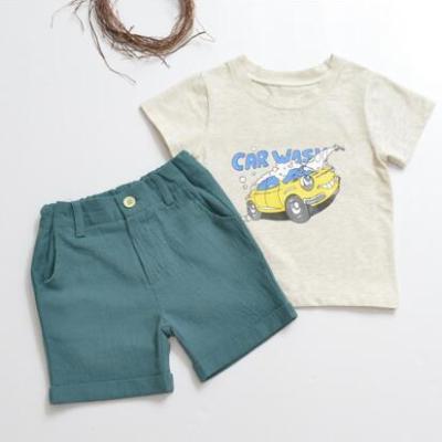 小孩说 2017夏季棉男童套装 短袖+短裤两件套装韩版休闲儿童装小男孩夏装宝宝夏季衣服