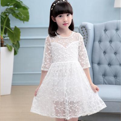 夏季韩版连衣裙 女童小飞袖公主裙 儿童清凉纯棉裙子一件代发