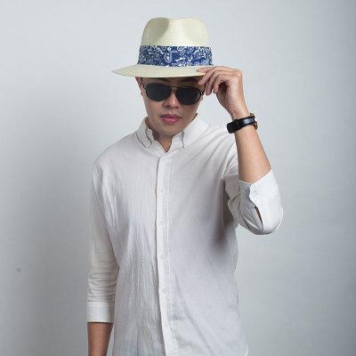 Livingston利文思顿 英伦风格帽子 男士春夏遮阳防晒帽 海边度假沙滩帽 LF8001