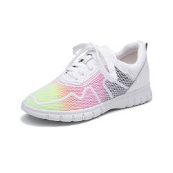 荷月诗  牛皮漆面系带运动鞋 AXL17165-01
