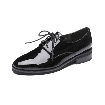 荷月诗 牛皮漆面单鞋 AXZ17187-2