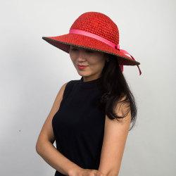 Livingston利文思顿 帽子女夏天草帽韩版潮遮阳帽,夏季防晒沙滩帽,遮脸大沿 LF8025