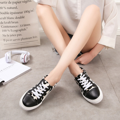 丽姿 新款韩版真皮平底休闲鞋 568-1