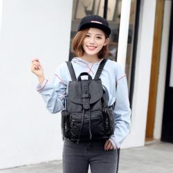 2017新款女士背包双肩包 女包学生书包韩版潮流时尚旅行PU背包女 3001