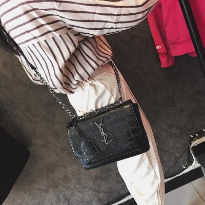小包包女2017新款链条包韩版时尚迷你小方包简约百搭单肩斜挎包潮 3014