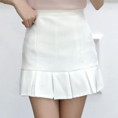 女人志 2017年夏季新款 压折糖果色短裙 8809