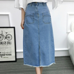 女人志 2017年夏季新款 牛仔长裙 8810