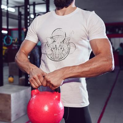 KBB 2017夏新款美国潮牌男士透心凉圆领棉T恤 马头图案