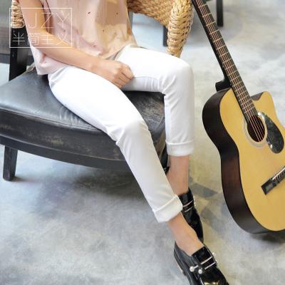 2018夏季新款韩版梭织修身长裤 QS072