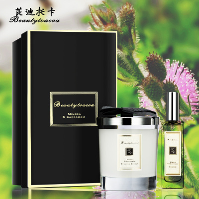 Beauty toacoa芘迪托卡 含羞草与小豆蔻香水+香薰蜡烛套盒