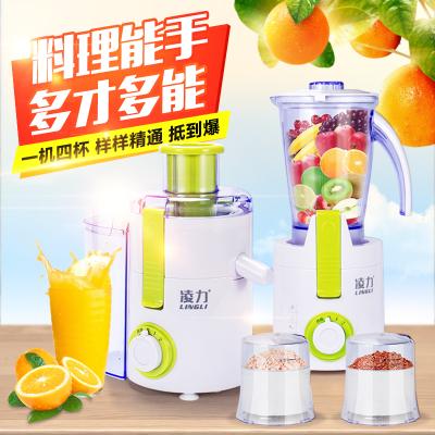 凌力 XZ8001 榨汁机家用多功能电动料理搅拌机果汁机全自动