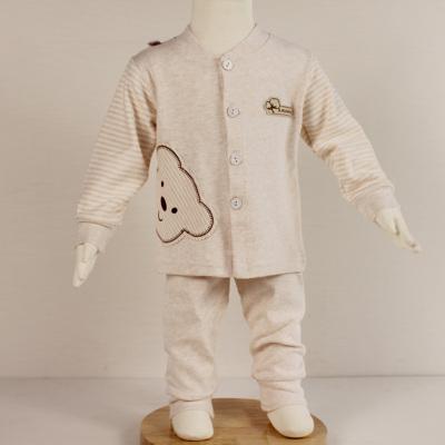 淇可彩棉立领套装长袖上衣长裤小熊时尚款0111#