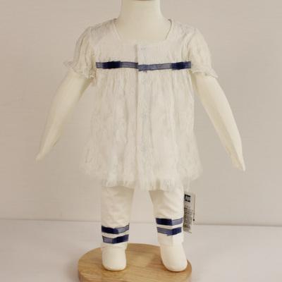 淇可短袖套装连衣裙长裤时尚新款蝴蝶结前方领套0320款