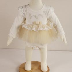 淇可童装时尚可爱娃娃装蝴蝶结裙式哈衣8801#