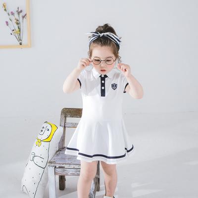 卓依佳 2017新款女童夏装短袖短裤中大儿童女孩夏季运动休闲套装韩版 盾牌裙 QZ1703