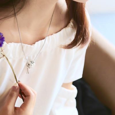 韩国blindreason双钥匙吊坠S925银项链锁匙项坠男女朋友礼物