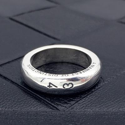 韩国BLINDREASON权志龙GD同款1314系列圆素戒男女情侣复古泰银圆指环