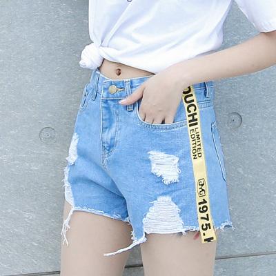 2017年新款上新时尚修身百搭牛仔短裤1036