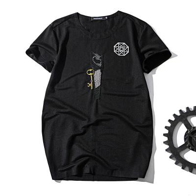 杜狄嘉男士短袖T恤 夏季体恤 男装2017新款修身衣服男生潮牌上衣178888