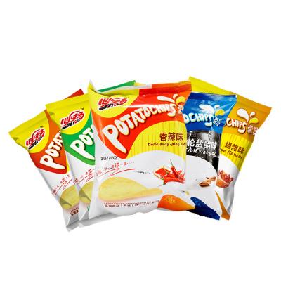 必杨 膨化食品休闲零食薯片休闲办公零食60g/15g香辣味烧烤味番茄