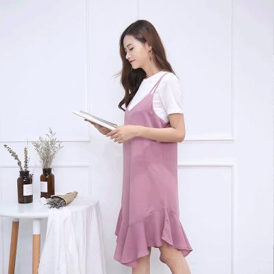 琴之云裳2017年新款上线时尚修身连衣裙两件套8501