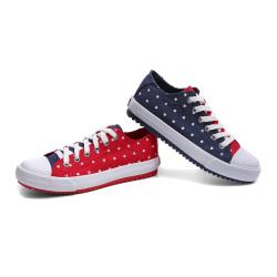 一步赢学生校园风时尚舒适休闲帆布鞋 w155057