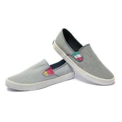 一步赢 韩版休闲舒适透气帆布鞋 w165118