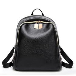 佳佳皮具 2017女式双肩包韩国时尚铆钉学院风旅行背包学生书包代发A30